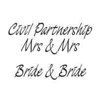 WOODWARE  CLEAR STAMPS  CIVIL PARTNERSHIP MRS AND MRS