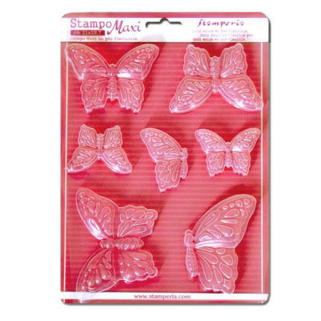 STAMPERIA SOFT MOULDS A4  BUTTERFLIES