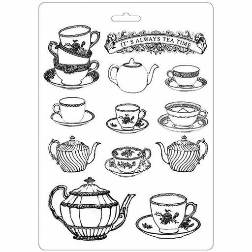 STAMPERIA SOFT MOULDS A4  TEA TIME