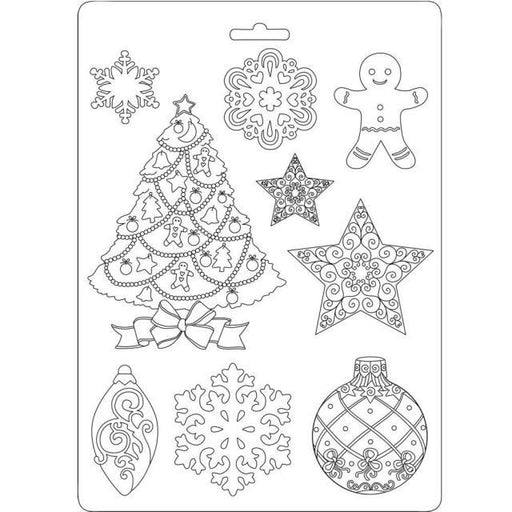 STAMPERIA SOFT MOULDS A5  CHRISTMAS