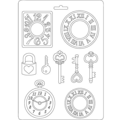 STAMPERIA SOFT MOULDS A5  CLOCKS AND KEYS