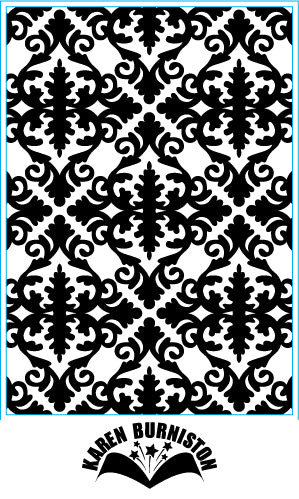 ELIZABETH CRAFT DESIGN EMB FOLDER DAMASK
