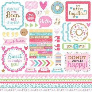 DOODLEBUG CREAM AND SUGAR STICKER SHEET