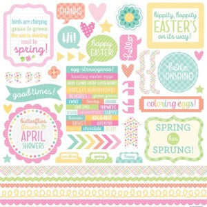 DOODLEBUG SPRING THINGS STICKER SHEET