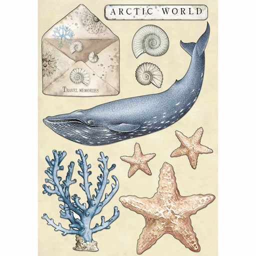 STAMPERIA COLORED WOODEN SHAPE A5 ARCTIC WORLD