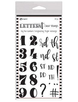 RANGER CLEAR STAMP LETTER IT BY THE NUMBER