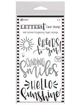 RANGER CLEAR STAMP LETTER IT HELLO SUNSHINE