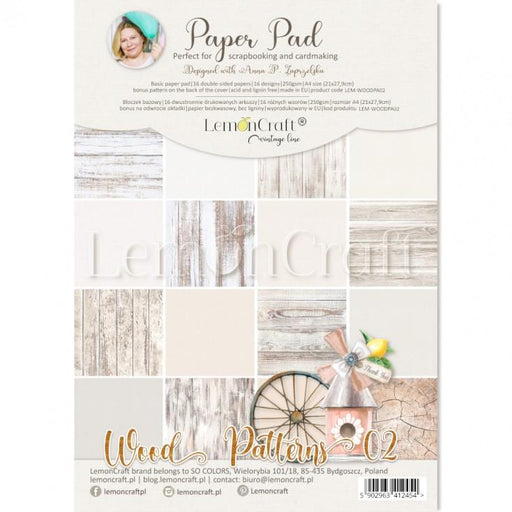 LEMON CRAFT PAPER PAD A4  WOOD PATTEN 2