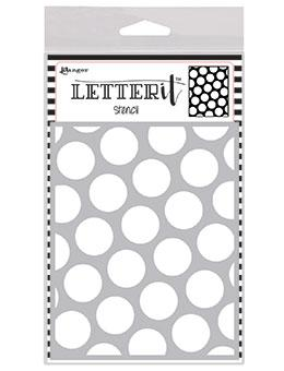 RANGER STENCIL LETTER IT POLKA DOTTING