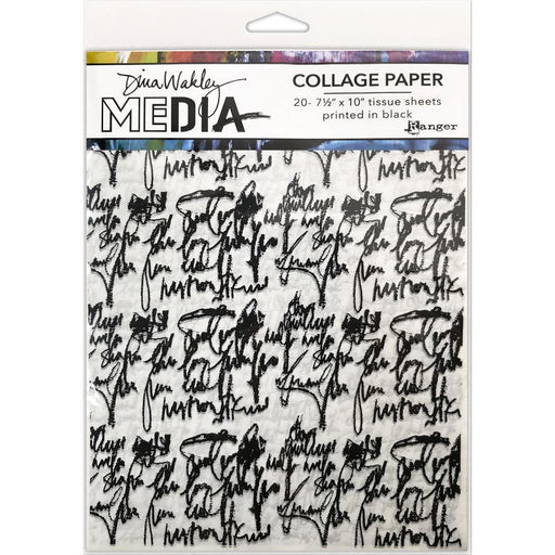 DINA-WAKLEY-MEDIA-COLLAGE-PAPER-JUST-WORDS