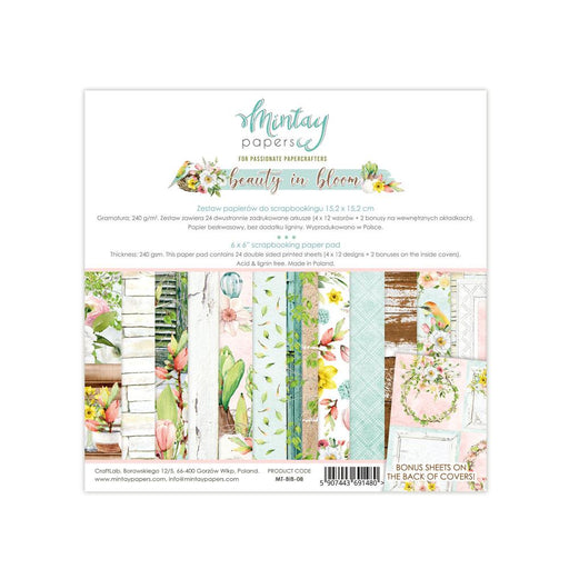 MINTAY BY KAROLA 6 X 6 BEAUTY IN BLOOM  PAPER PAD