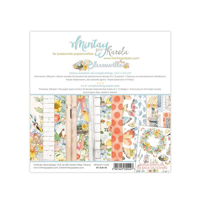 MINTAY BY KAROLA 6 X 6  PAPER PAD BLOOMVILLE