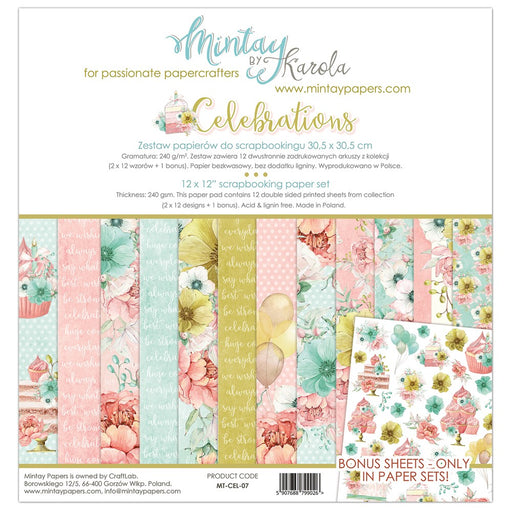 MINTAY BY KAROLA 12 X 12  PAPER PACK  CELEBRATIONS