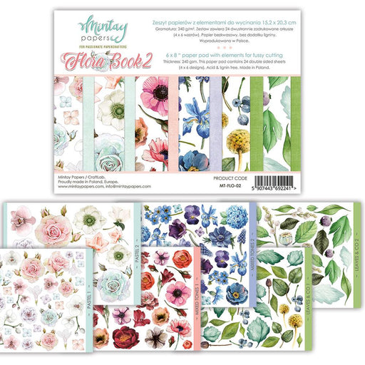 MINTAY BY KAROLA 6 X 8 FLORA BOOK - ELEMENTS FOR PRECISE CUT