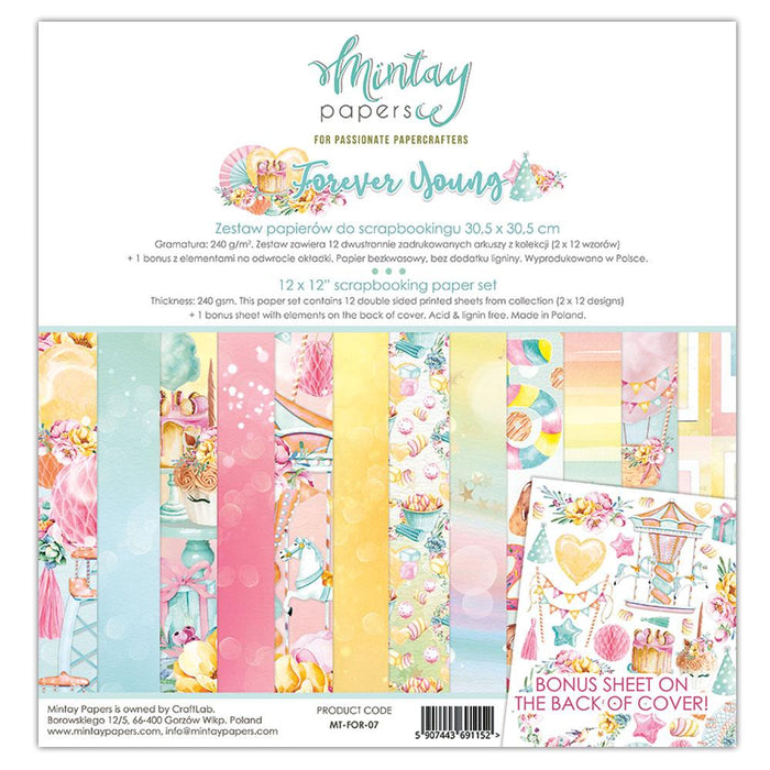 MINTAY BY KAROLA 12 X 12  PAPER PAD  FOREVER YOUNG