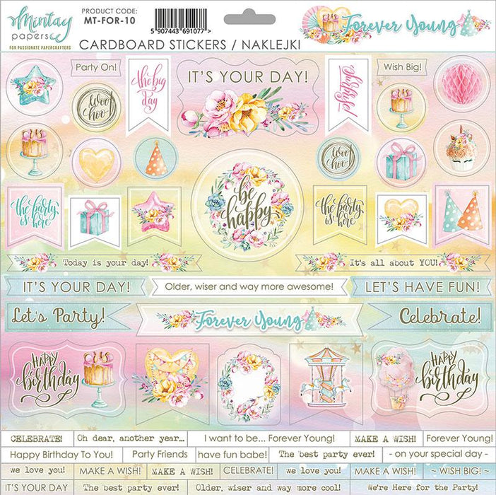 MINTAY BY KAROLA 12 X 12 PAPER STICKERS FOREVER YOUNG