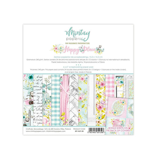 MINTAY BY KAROLA 6 X 6 HAPPY PLACE  PAPER PAD
