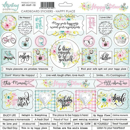 MINTAY BY KAROLA 12 X 12 STICKERS  HAPPY PLACE