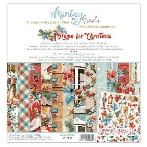 MINTAY BY KAROLA 12 X 12  PAPER PAD HOME FOR CHRISTMAS