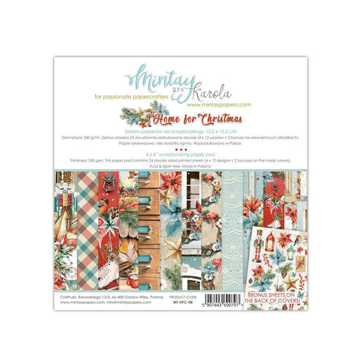 MINTAY BY KAROLA 6X6 PAPER PAD HOME FOR  CHRISTMAS
