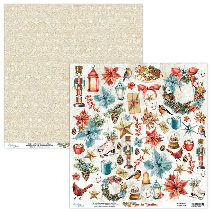 MINTAY BY KAROLA 12 X 12 PAPER ELEMENTS HOME FOR Christmas 09