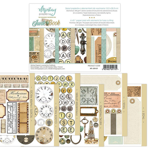 MINTAY BY KAROLA 6 X 8 JUNK BOOK - ELEMENTS FOR PRECISE CUT