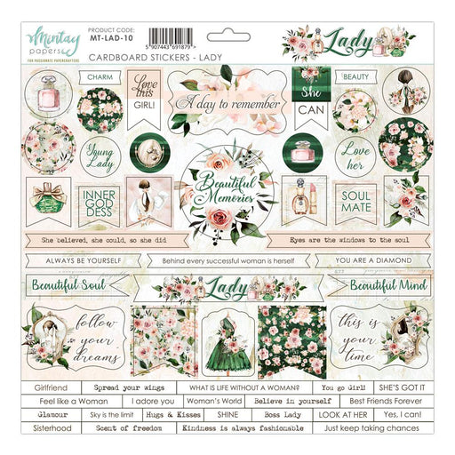 MINTAY BY KAROLA 12 X 12 STICKERS  LADY
