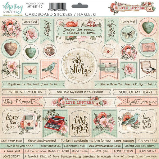 MINTAY BY KAROLA 12 X 12  CARDSTOCK STICKERS LOVE LETTERS
