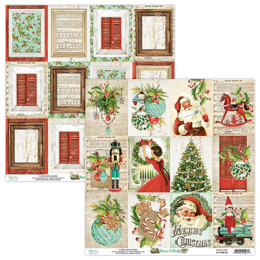 MINTAY BY KAROLA 12 X 12 MERRY AND BRIGHT 06