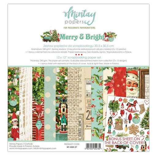 MINTAY BY KAROLA 12 X 12  PAPER PAD  MERRY AND BERRY