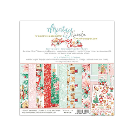 MINTAY BY KAROLA 6X6 PAPER PAD  THE SWEETEST  CHRISTMAS