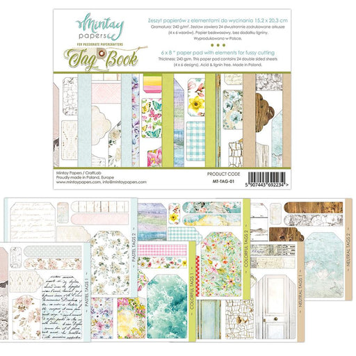 MINTAY BY KAROLA 6 X 8 TAG BOOK - ELEMENTS FOR PRECISE CUT