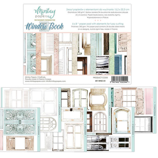 MINTAY BY KAROLA 6 X 8 WINDOW BOOK ELEMENTS FOR PRECISE CUT