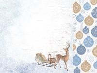 KAISER 12X12 WHIMSY WISHES COLLECTION    DASHING DEER