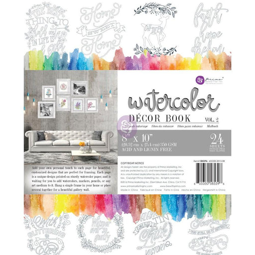 PRIMA WATERCOLOR DECOR COLORING BOOK A4