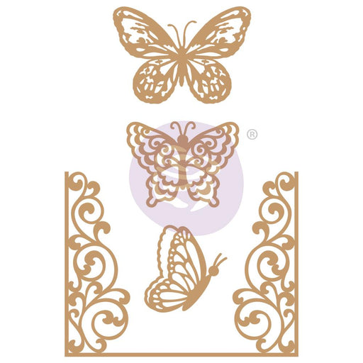 PRIMA CHIPBOARD DIECUTS  BUTTERFLY FLIGHT