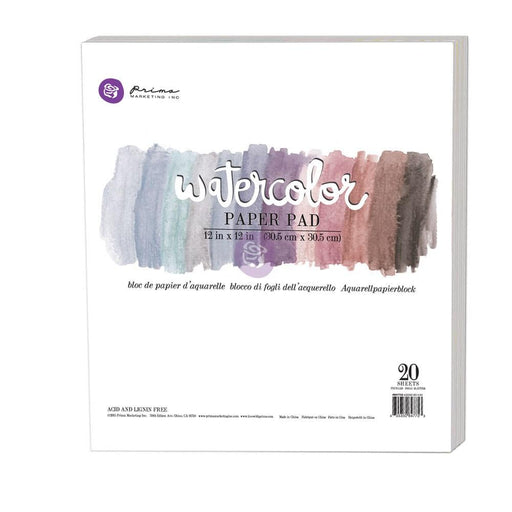 PRIMA WATERCOLOR 12 X 12 COLORING PAD