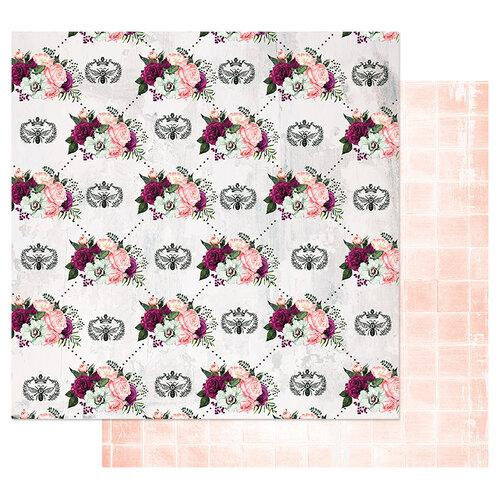 PRIMA PRETTY MOSAIC COLLECTION  12 X12 PAPER  QUEEN BEE