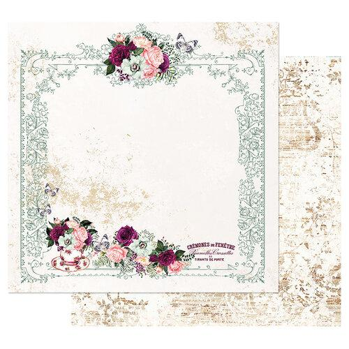 PRIMA PRETTY MOSAIC COLLECTION  12 X12 PAPER  TEA AND ROSES