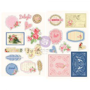 PRIMA  JULIE NUTTING  CHIPBOARD STICKERS
