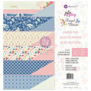 PRIMA  JULIE NUTTING  12 X 12  PAPER PAD  FRAY DENIM