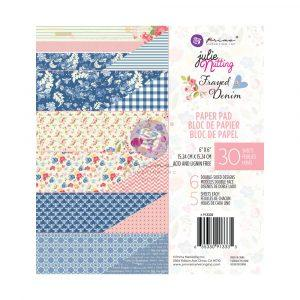 PRIMA  JULIE NUTTING  6 X 6  PAPER PAD  FRAY DENIM