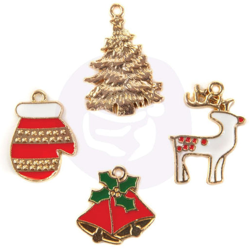 PRIMA  XMAS IN THE COUNTRY  COLL ENAMEL CHARMS