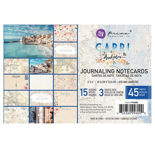 PRIMA CAPRI COLLECTION 4 X 6 JOURNALING CARDS