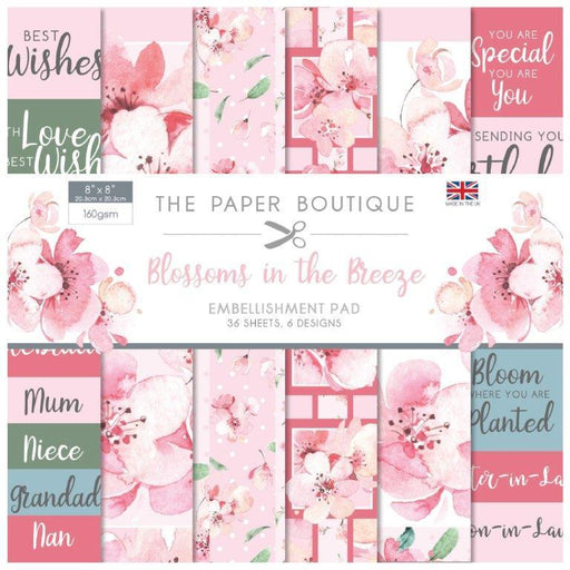 THE PAPER BOUTIQUE  8 X 8 PAPER PAD BLOSSOMS IN THE BREEZE