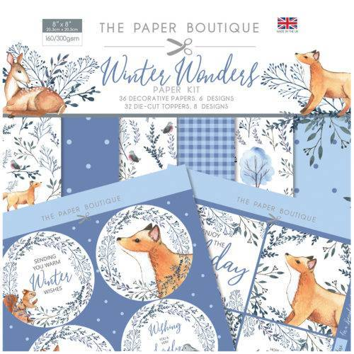 PB  8X8 PAPER KIT WINTER WONDERS