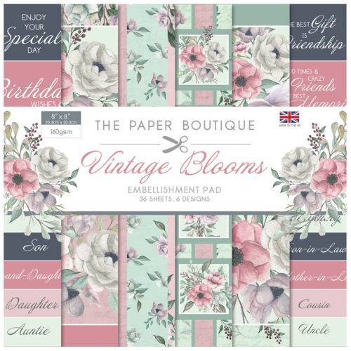 PB  8X8 EMBELLISHMENT PAD VINTAGE BLOOM