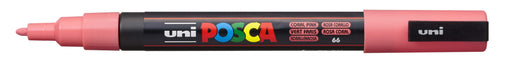 POSCA PAINT MARKER PC3M BULLET SHAPED  CORAL PINK