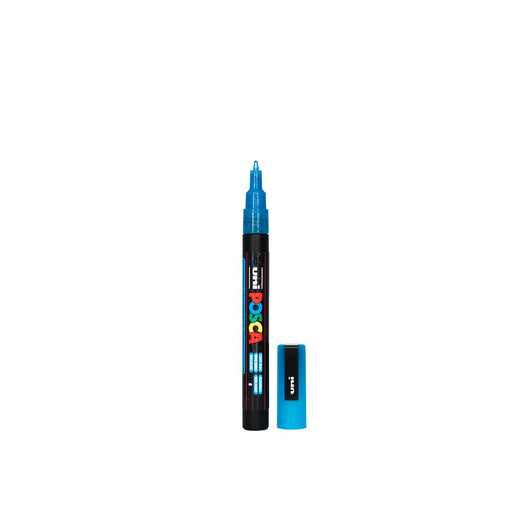 POSCA PAINT MARKER PC3M BULLET GLITTER LIGHT BLUE