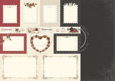 PION 12X12 TO MY VALENTINE MEMORY NOTES